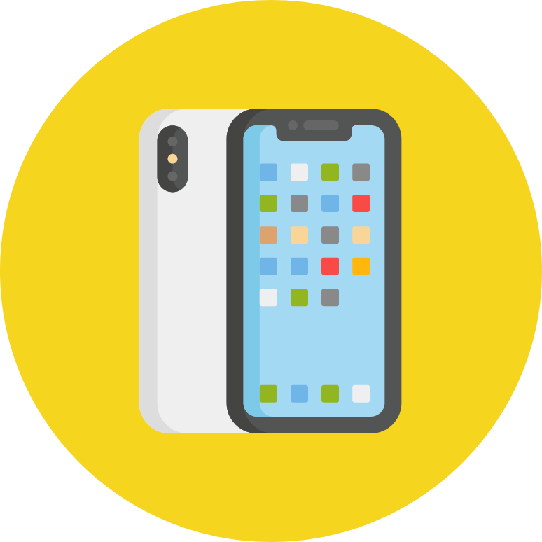 Phone icon in circle